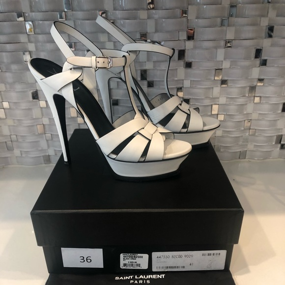 White Ysl Tributes Size 41 by Yves Saint Laurent